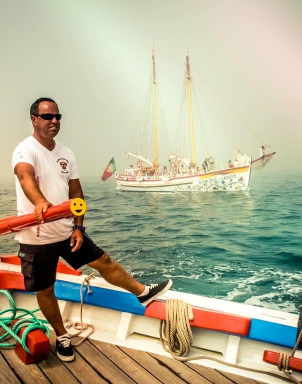 Capitaine de navire portugais