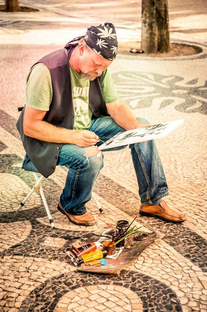 Peintre portugais dans une rue
